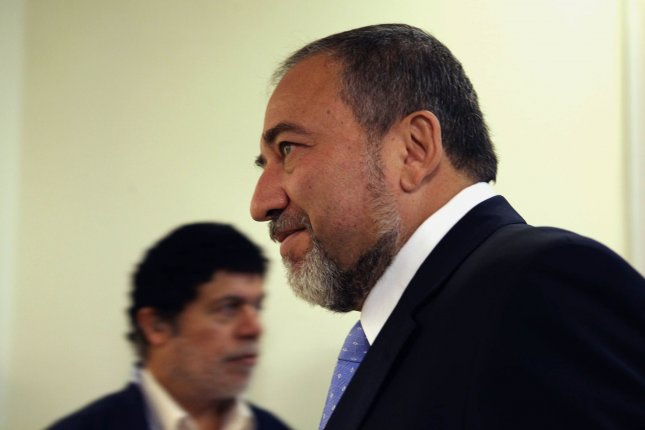 Israeli Foreign Minister Avigdor Lieberman urged to submit protests to the United States and the European Union against remarks made by the Palestine Liberation Organization. UPI/Gali Tibbon/Pool