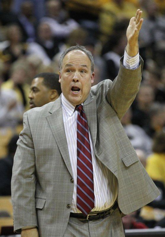 Nebraska Coach Doc Sadler, shown in a 2011 file photo, was fired Friday as the Cornhuskers' coach. UPI/Bill Greenblatt
