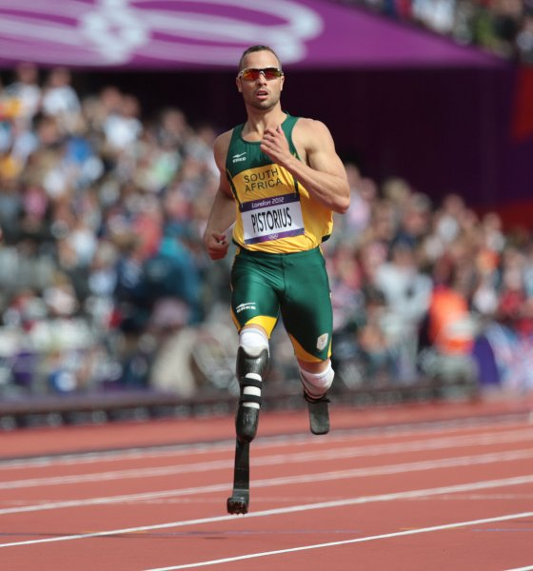 South Africa's Oscar Pistorius at the 2012 Olympics in London. UPI/Hugo Philpott