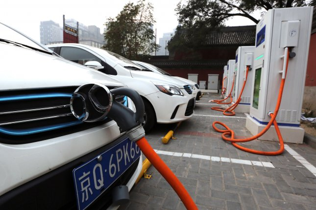 A plan by the British government Wednesday calls for a ban on gas- and diesel-powered vehicles, and promotion of advances that include new infrastructure for electric vehicles. File Photo by Stephen Shaver/UPI