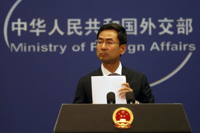 Chinese Foreign Ministry spokesman Geng Shuang said Wednesday Beijing will work with the remaining member states of the United Nations Human Rights Council. File Photo by Stephen Shaver/UPI