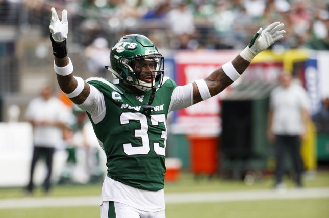 New York Jets safety Jamal Adams would welcome a trade to the Cowboys, Ravens, Texans, Chiefs, Eagles, 49ers and Seahawks. File Photo by Chris Szagola/UPI