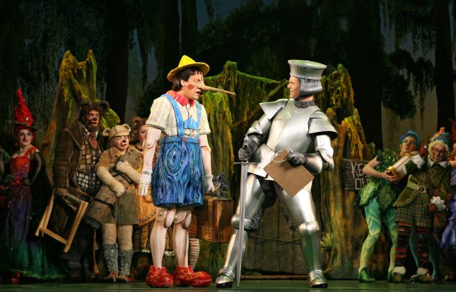 John Tartaglia, who plays Pinocchio, The Magic Mirror and Beggar in Shrek The Musical is seen in this undated photo released on March 9, 2009. (UPI Photo/Joan Marcus/DreamWorks Theatricals)
