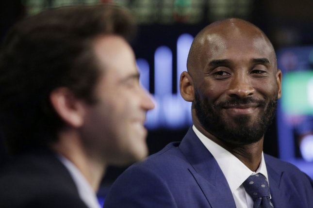 Bryant Stibel Co-Founders and General Partners Kobe Bryant and Jeff Stibelt are interviewed on CNBC after they ring the opening bell at the New York Stock Exchange on Wall Street in New York City on August 22, 2016. Photo by John Angelillo/UPI