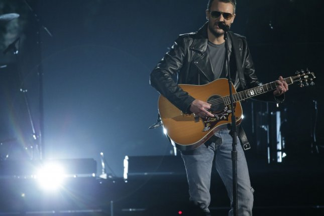Eric Church performs at the 49th Annual CMA Awards in Nashville, TN on November 4, 2015 File Photo by John Angelillo/UPI