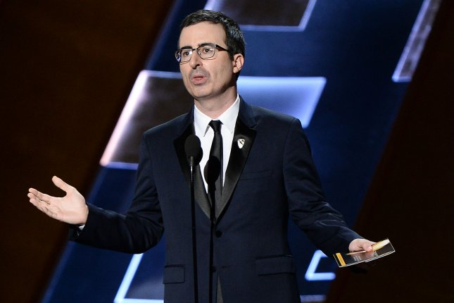 John Oliver appears onstage during the 67th Primetime Emmy Awards on September 20, 2015. Oliver will be voicing Zazu in Lion King. File Photo by Ken Matsui/UPI.