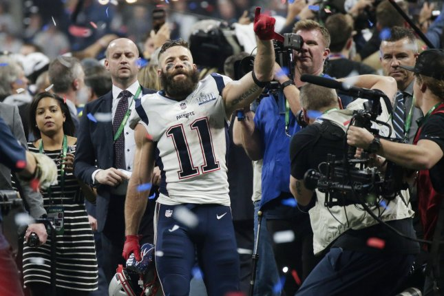 New England Patriots wide receiver Julian Edelman won the Super Bowl LIII MVP after bringing in 10 catches for 141 yards in a win against the Los Angeles Rams on Feb. 3 in Atlanta. File Photo by John Angelillo/UPI