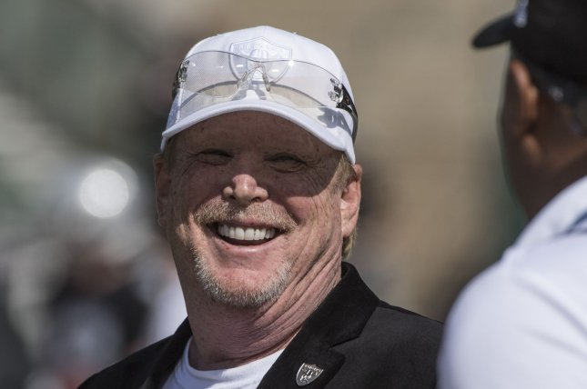 The Oakland Raiders, currently owned by Mark Davis (pictured), have won three Super Bowls since being founded in 1960. File Photo by Terry Schmitt/UPI