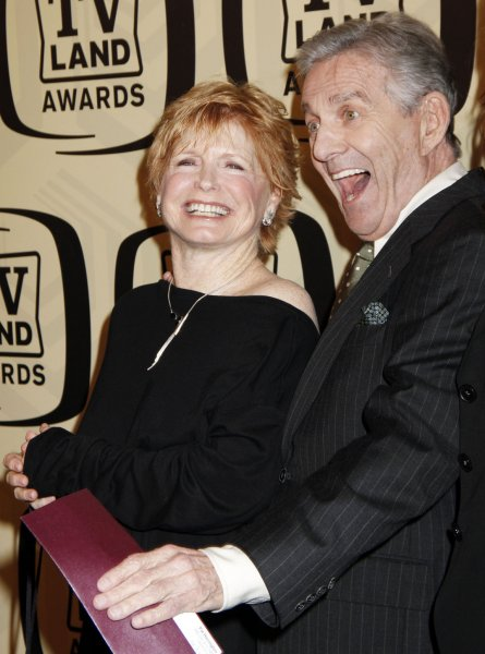 The Cast of One Day at a Time - Bonnie Franklin and Pat Harrington arrive for the 10th Anniversary of the TV Land Awards at the Lexington Avenue Armory in New York on April 14, 2012. UPI /Laura Cavanaugh
