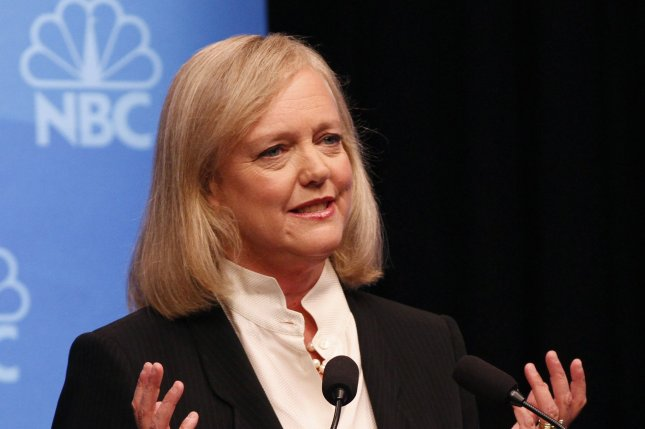 Hewlett Packard Enterprise CEO Meg Whitman, who previously ran for governor of California as a Republican, said she will vote for Democratic presidential nominee Hillary Clinton. File Photo by George Nikitin/UPI