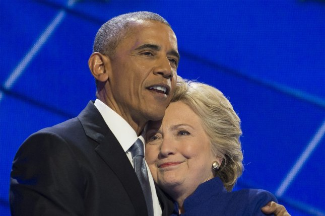 Former President Barack Obama and former Secretary of State and presidential candidate Hillary Clinton retain Gallup poll's most admired man and woman. Photo by Pete Marovich/UPI