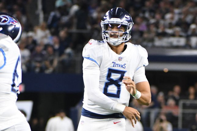 f94a40ad Tennessee Titans QB Marcus Mariota questionable for next game - UPI.com