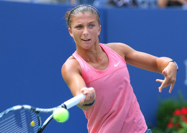 Sara Errani, shown at the 2013 U.S. Open, picked up a win Thursday and boosted her into the quarterfinals of the Open GDF Suez tennis tournament in Paris. UPI Photo/Monika Graff