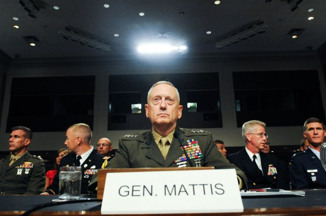 Gen. James Mattis, nominated to replace Gen. David Petraeus as the commander of U.S. Central Command, listens to opening statements at a Senate Armed Services Committee hearing on his confirmation on Capitol Hill in Washington UPI/Alexis C. Glenn
