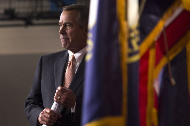 House Speaker John Boehner, R-Ohio, used what's known as the queen of the hill rule in allowing House Republicans to choose from multiple submitted budget proposals. Photo by Kevin Dietsch/UPI