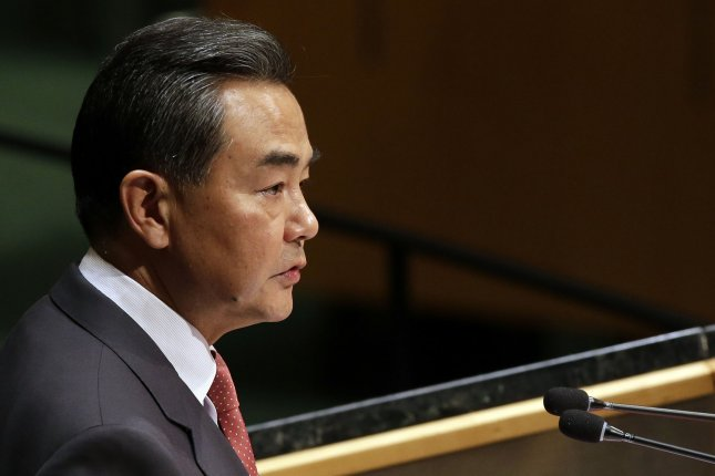 Beijing's Foreign Minister Wang Yi said China is taking an open attitude to talks with the United States, Japan, Russia and South Korea on North Korea denuclearization. File Photo by John Angelillo/UPI