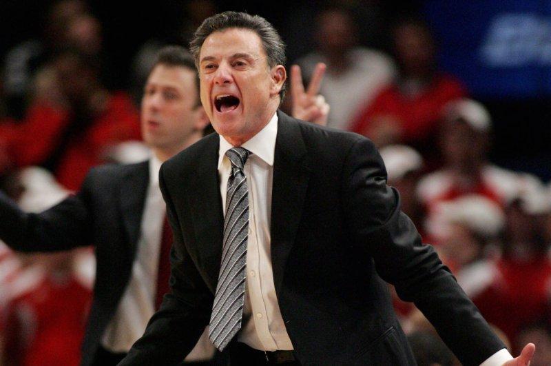 Louisville basketball head coach Rick Pitino. File photo Monika Graff/UPI