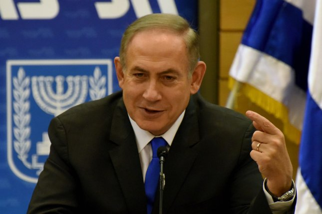 Israeli Prime Minister Benjamin Netanyahu speaks during the Likud Party meeting in the Knesset, the parliament, in Jerusalem, Israel, January 2, 2017. Police are expected to question Netanyahu on suspicion of graft allegations. The Prime Minister and his family allegedly received gifts and other benefits worth hundreds of thousands of shekels from business people. Photo by Debbie Hill/UPI