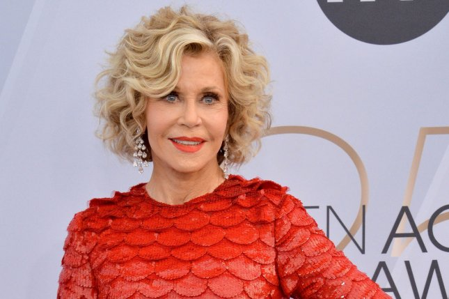 Jane Fonda enjoyed an evening with her Book Club co-stars Thursday. File Photo by Jim Ruymen/UPI