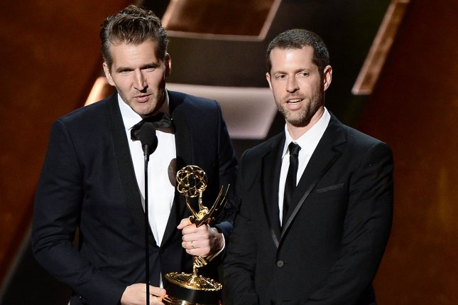 Game of Thrones showrunners David Benioff (L) and Dan Weiss. The duo are moving to Netflix. File Photo by Ken Matsui/UPI.