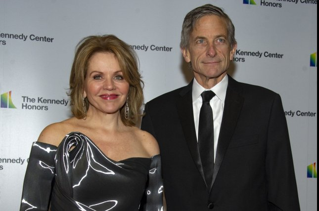 Renée Fleming (L), pictured with Tim Jessell, will perform in front of a live audience Sept. 26 at the Kennedy Center. File Photo by Ron Sachs/UPI
