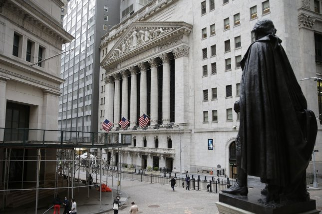 U.S. markets posted gains on Thursday despite a Commerce Department report that second-quarter economic growth numbers fell short of analysts' expectations. FilePhoto by John Angelillo/UPI