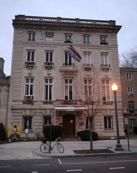 The Embassy of the Republic of Kenya Chancery is seen in Washington on February 20, 2011. UPI/Roger L. Wollenberg