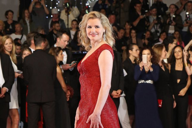 The Exorcist star Geena Davis arrives on the red carpet before the screening of the film The Nice Guys at the 69th annual Cannes International Film Festival in Cannes, France on May 15, 2016. Photo by David Silpa/UPI