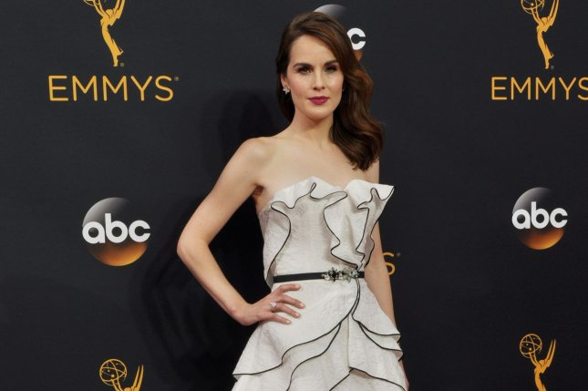 Good Behavior actress Michelle Dockery arrives for the 68th annual Primetime Emmy Awards at Microsoft Theater in Los Angeles on September 18, 2016. File Photo by Christine Chew/UPI
