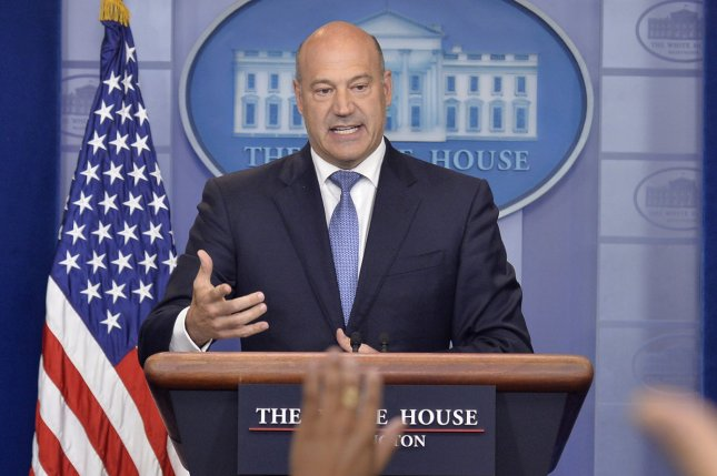 White House Economic Council Director Gary Cohn makes remarks Thursday at the White House in Washington, D.C. Cohn briefed the press on the outline of President Donald Trump's tax reform program. Photo by Mike Theiler/UPI