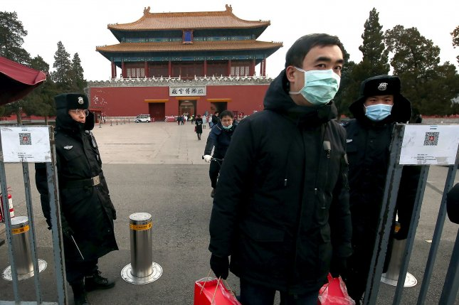 China's capital has ordered a lockdown of a southern district after several cases of COVID-19 were reported in the area on Wednesday. Photo by Stephen Shaver/UPI