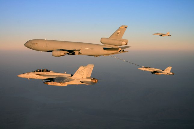 More than 15,000 Islamic State members have been killed in more than 5,500 U.S.-led coalition airstrikes since Aug. 8, 2014. File Photo by Kyle Terwilliger/U.S. Navy/UPI
