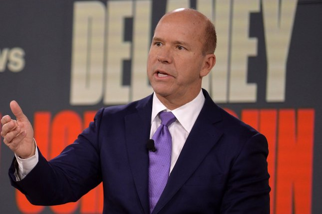 Former Maryland Rep. John Delaney speaks on January 20 at the Brown & Black Presidential Forum in Des Moines, Iowa. The state will begin the 2020 primary season with its caucuses on February 3. Photo by Mike Theiler/UPI