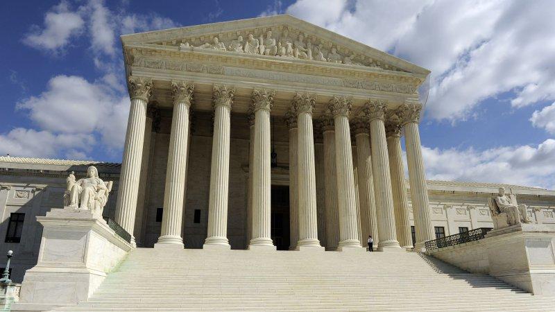 The Supreme Court building. UPI/Roger L. Wollenberg