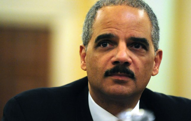 Attorney General Eric Holder testifies on the causes of the economic crisis before the Financial Crisis Inquiry Commission in Washington on January 14, 2010. UPI/Kevin Dietsch