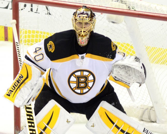 Tuukka Rask made 25 saves for the first home regular-season win of his career over Montreal during a 4-0 victory on Sunday night. File Photo by Archie Carpenter/UPI