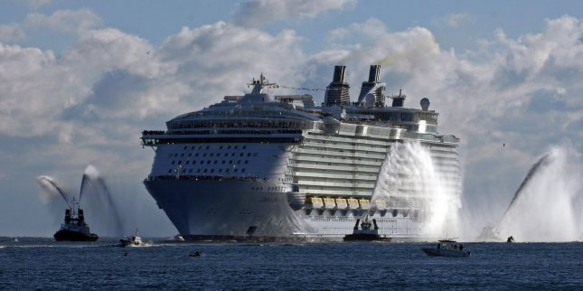 Royal Caribbean International's Oasis of the Seas glides into Port Everglades, Florida on November 13, 2009. Bonnie Tyler is to perform her hit song Total Eclipse of the Heart on this cruise ship during Monday's solar eclipse. File Photo by Joe Marino-Bill Cantrell/UPI