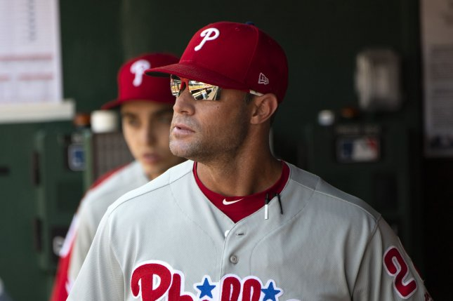 Philadelphia Phillies manager Gabe Kapler spent two seasons with the team and failed to make the postseason. File Photo by Pat Benic/UPI