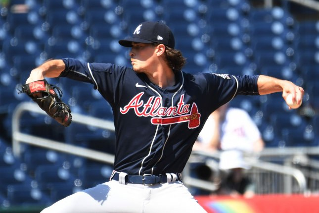 Atlanta Braves starting pitcher Max Fried, shown April 7, 2021, had been scheduled to start Wednesday in the Braves' series finale against the New York Mets. File Photo by Pat Benic/UPI