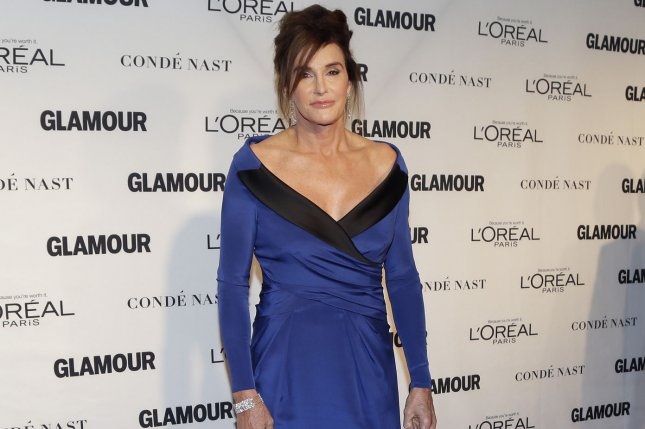 Caitlyn Jenner arrives on the red carpet when Glamour Celebrates the 25th anniversary of the Woman of the Year Awards on November 9, 2015. She responded to Ricky Gervais following jokes he made about the reality star. File Photo by John Angelillo/UPI