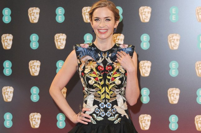 Mary Poppins Returns actress Emily Blunt attends the 70th EE British Academy Film Awards in London on February 12. File Photo by Paul Treadway/ UPI
