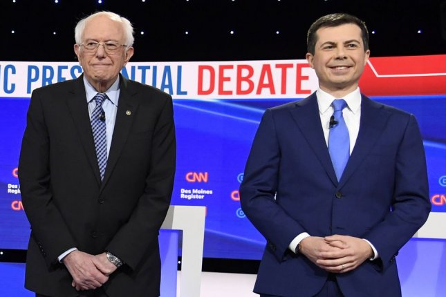 The presidential campaigns of Bernie Sanders and Pete Buttigieg requested a recanvass of 143 precincts in the Iowa caucuses on Monday. Photo by Mike Theiler/UPI