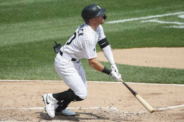 Chicago White Sox shortstop Danny Mendick went 2 for 4 with a home run in a win over the Pittsburgh Pirates Wednesday in Chicago. Photo by Kamil Krzaczynski/UPI