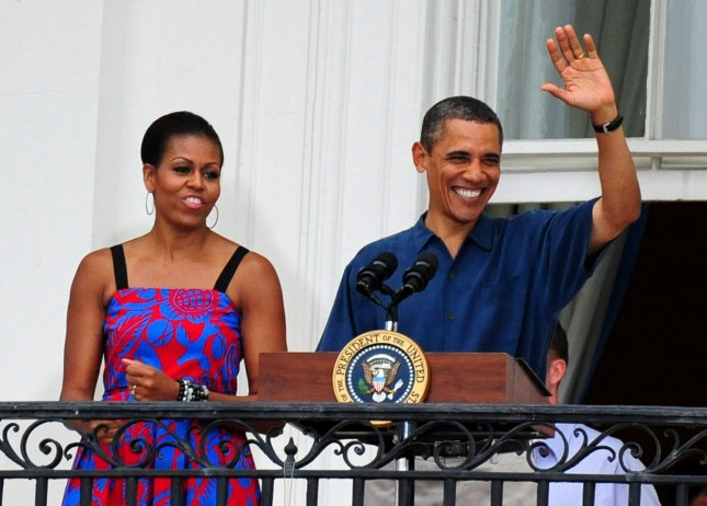 President Barack Obama and First Lady Michelle Obama on the Fourth of July. The National Education Association endorsed Barack's bid for re-relection. UPI/Kevin Dietsch