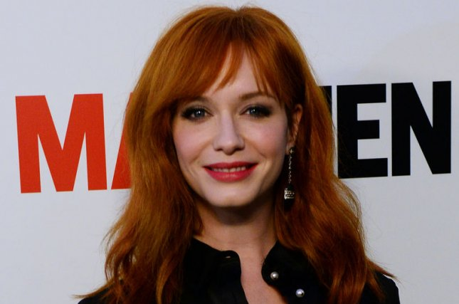 Cast member Christina Hendricks attends the season seven premiere of the television drama series Mad Men at the ArcLight Cinerama Dome in the Hollywood section of Los Angeles on April 2, 2014. Storyline: A drama about one of New York's most prestigious ad agencies at the beginning of the 1960s, focusing on one of the firm's most mysterious but extremely talented ad executive, Donald Draper (Jon Hamm). UPI/Jim Ruymen