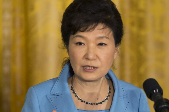 South Korean President Park Geun-hye, shown here last fall at the White House, said Tuesday peaceful unification is the key to ending the North Korea nuclear crisis. She was speaking on the anniversary of the March First Independence Movement, in observance of a 1919 Korean uprising against Japanese colonial rule. File Photo by Pat Benic/UPI