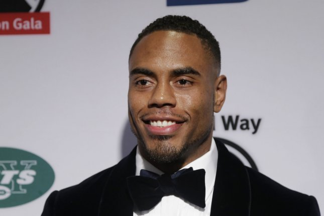 Rashad Jennings arrives on the red carpet at the XXIII Gridiron Gala at New York Hilton Midtown on May 10, 2016 in New York City. Photo by John Angelillo/UPI