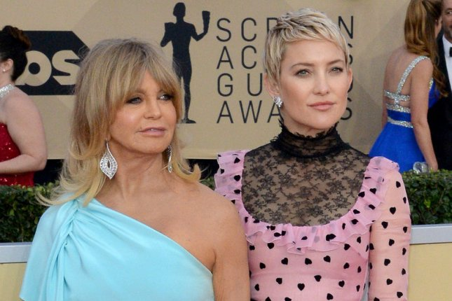 Kate Hudson (R) praised Goldie Hawn in an interview Friday. File Photo by Jim Ruymen/UPI