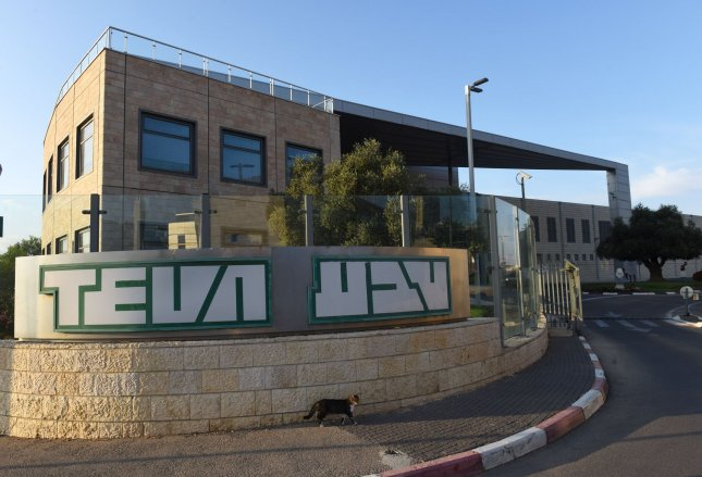 The Teva Pharmaceutical denied price-fixing charges the Justice Department announced on Tuesday. Photo by Debbie Hill/UPI