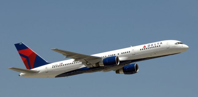 A Delta Air Lines plane made an unscheduled landing in Albuquerque after a passenger tried to enter the cockpit. File Photo by John Dickerson)/UPI